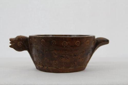 Asian Wooden Trinket Bowl