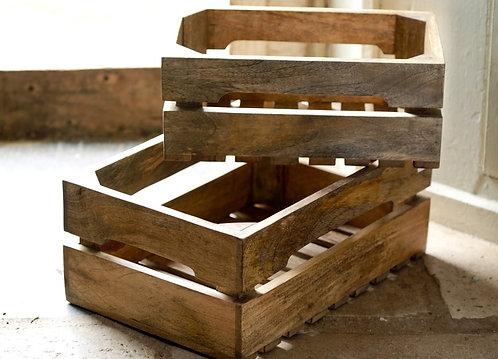 Stack of 2 Ahanti Mango Storage Boxes