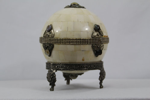 Decorative Jewelled Bone Ball