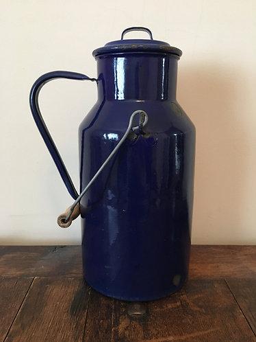 Vintage Enamel Milk Can