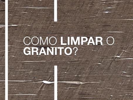 Como limpar uma superfície de granito?