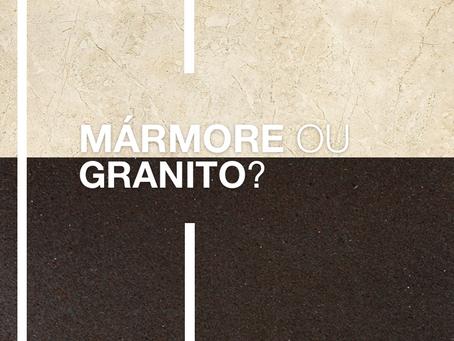 Qual é a diferença entre mármore e granito?