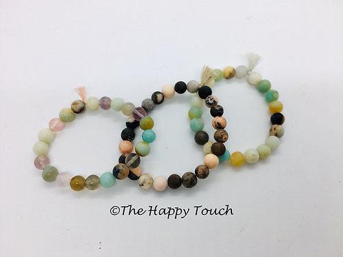 Bracelets en pierres semi-précieuses