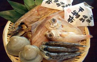 鮮度抜群の旬の魚、干物