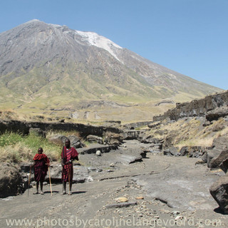 a walk to the waterfall at Lake Natron.