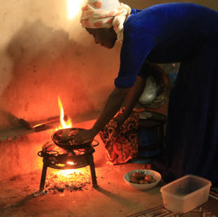 cooking the fish
