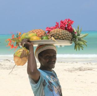 fresh fruit at the beach