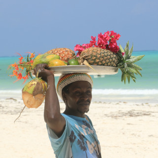 fresh fruit at the beach