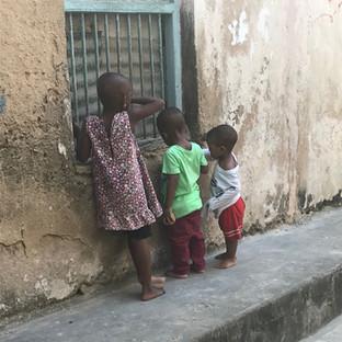 kids tour through stone town