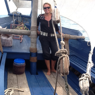 a private trip on a dhow boat
