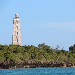 de bekende vuurtoren op het prachtige Chumbe eiland
