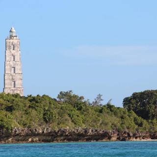 lighthouse at Chumbe Island