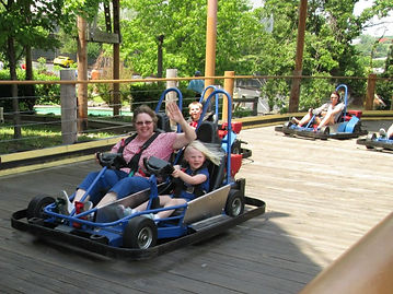 Riding Go Carts at Branson Tracks