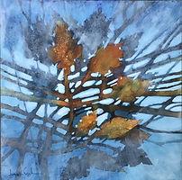 (Sm)oak on Water, Acrylic on clayboard, 34 x 34 cm