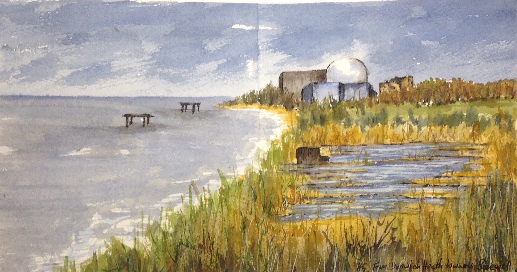 From Dunwich Heath Towards Sizewell II -