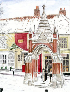 Woodbridge - Market Hill in Snow - featu