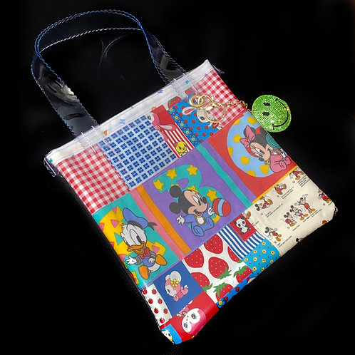 HELLO SISI CUSTOMED - BABY MICKEY MOUSE RETRO PATCHWORK TOTE