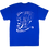 Thumbnail: BUMPY STREET - CAT HUGGING TEE (BLUE)
