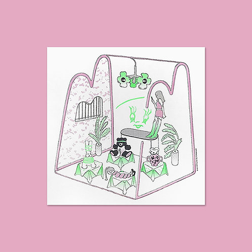 """ANCCO - WELCOME TO THE DOLLHOUSE """"SCHOOL"""" RISO PRINT POSTER"""