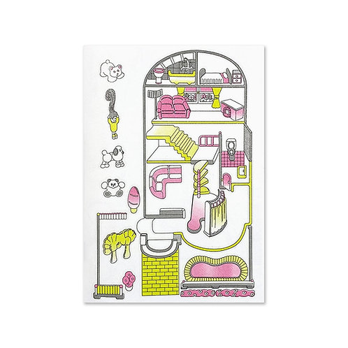 "ANCCO - WELCOME TO THE DOLLHOUSE ""SCHOOL"" RISO PRINT POSTER 的副本"