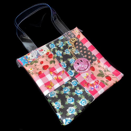 HELLO SISI CUSTOMED - RETRO BUTTERFLY FLORAL PATCHWORK TOTE