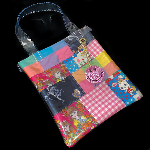 HELLO SISI CUSTOMED - RETRO GIRLY PATCHWORK TOTE