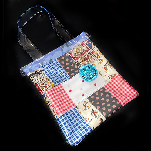 HELLO SISI CUSTOMED - RETRO MICKEY MOUSE PATCHWORK TOTE