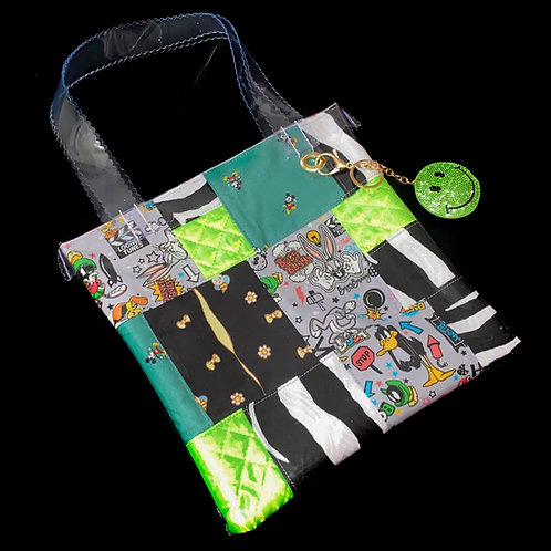 HELLO SISI CUSTOMED - BUGS BUNNY RETRO PATCHWORK TOTE