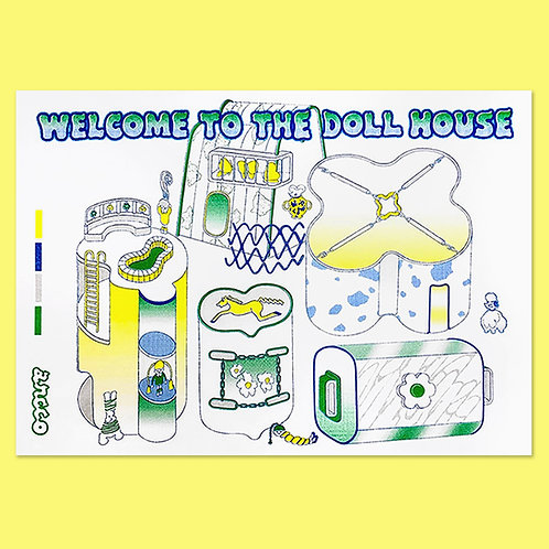"ANCCO - WELCOME TO THE DOLLHOUSE ""MAP"" RISO PRINT POSTER"