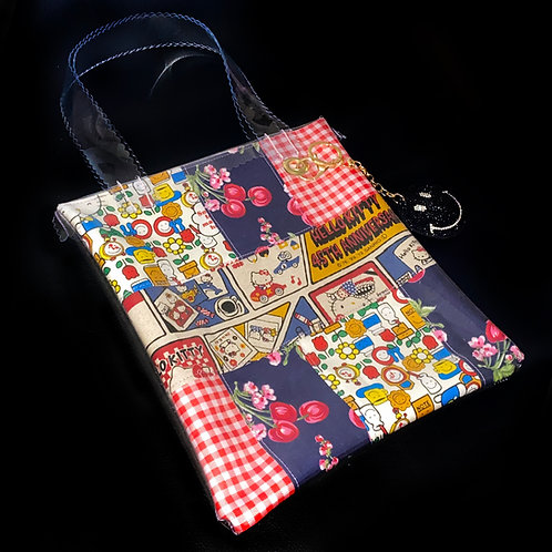 HELLO SISI CUSTOMED - HELLO KITTY RETRO PATCHWORK TOTE