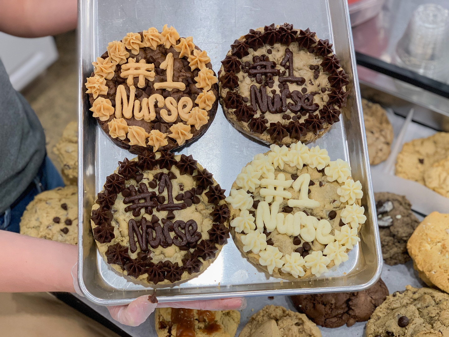 Our Mini Cookies Cakes! Great for a date night in together with your partner. The perfect way to say thank you.