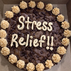 A Cookie Cake is the best stress refief!!
