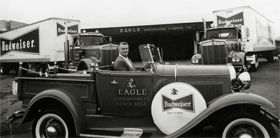 Chet Galeazzi at the wheel of his 1930 Ford