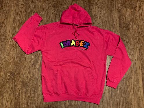 Imagez pink hoodie