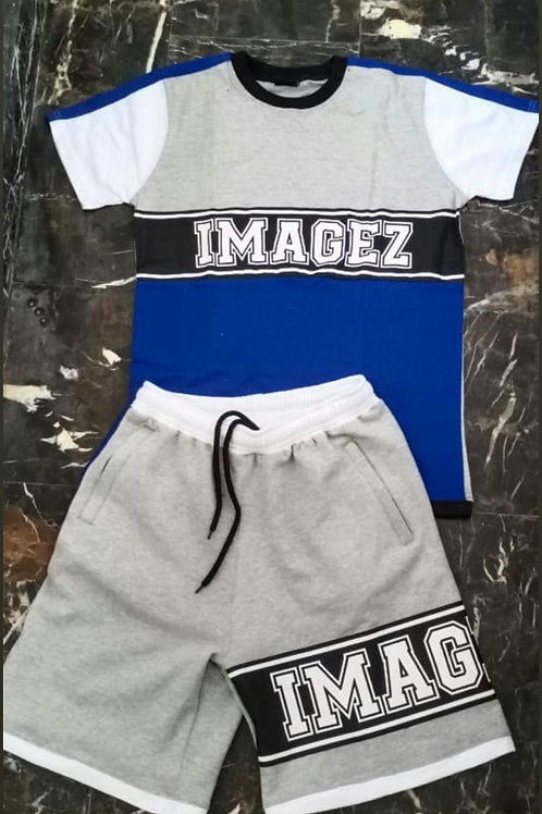 Imagez blue/grey summer set