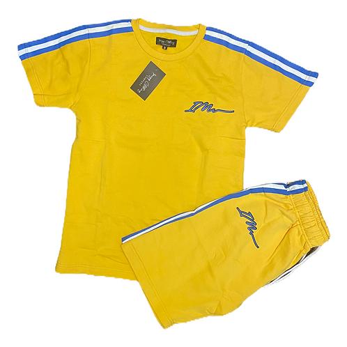 Yellow Signature shorts and tee set