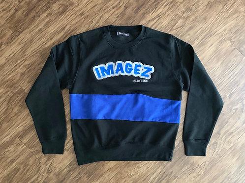 Imagez premium sweatshirt (Blue & Black)