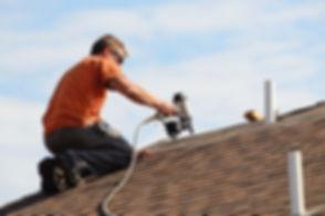 Building contractor putting the asphalt
