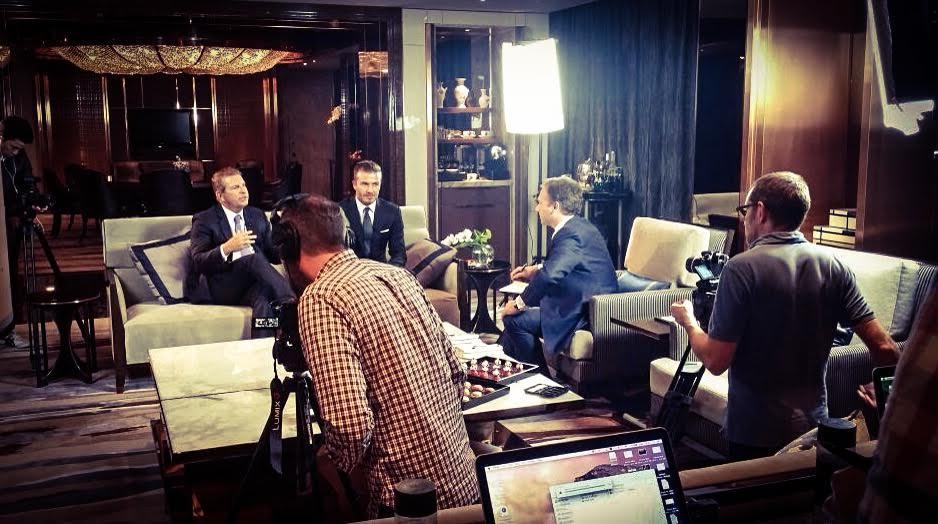 Triple8Films filming David Beckham