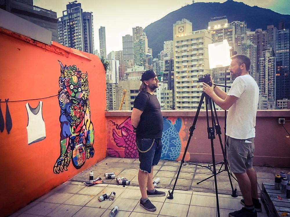 Szabotage graffiti videographer Hong Kong