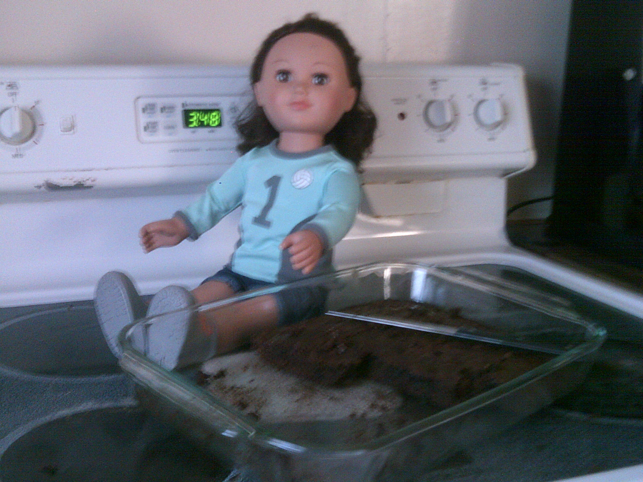 A.J stealing brownies
