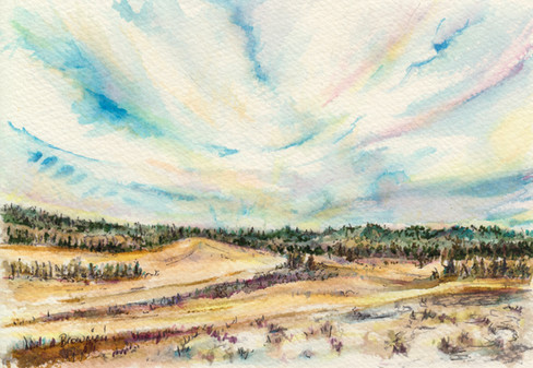 Early Winter Field and Sky: Item # - A2