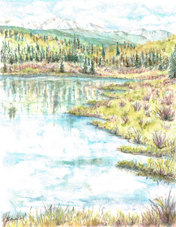 A Spring View in Wild Rose: Item # - A23