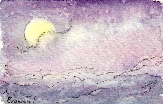Sleeping Baby Full Moon: Item # - A48