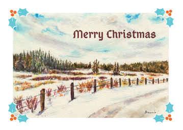 Merry Christmas (A Winter's View): Item # - S9