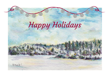Happy Holidays with Bells (Winter in the Foothills): Item # - S15