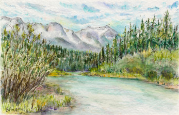Upstream from Canmore: Item # - A36