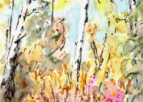 Autumn Aspen Abstract 1: Item # - A8