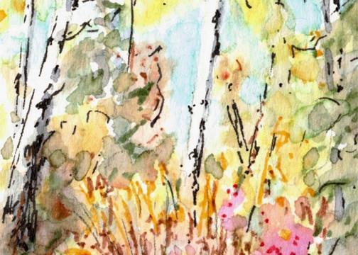 Autumn Aspen Abstract 1: Item # - A8
