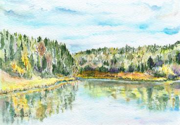 Early Autumn Lake: Item # - A57